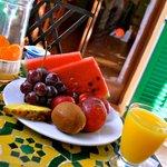 Fruit plate for breakfast