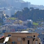 the backs of the Painted Ladies, and Alamo Square Park from the room