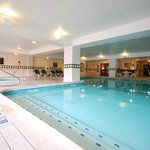 Large indoor heated saline pool