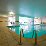 Large heated indoor saline pool