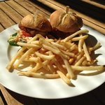 pork belly slider with fries, was $15 for lunch!