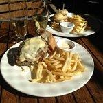 beef open sandwich and Baramundi slider - both $15!