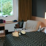 camera primo piano, tripla-poltrona letto