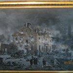 An artist's interpretation of the Battle of Germantown
