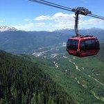 One of the Peak2Peak gondolas
