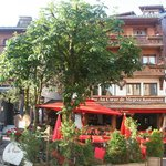 Hotel and restaurant frontage