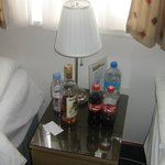 Rubbish left on Side Table in room.