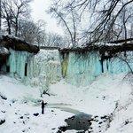 ice waterfall in winter