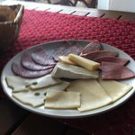 Meat and Cheese platter at Breakfast