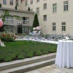 Hotel interior monastery garden