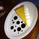 Passion Fruit Torte with berry dots