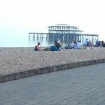 West pier beach outside hotel