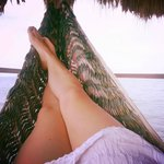 Relaxing in the hammock on private dock