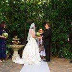Wedding garden on site
