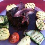Fillet Steak with red wine reduction. best steak I have tasted.