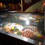 Fish food at local restaurant