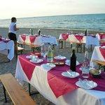 Fantastica Cena in spiaggia organizzata dal Miramare