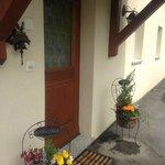 Front door of Chalet des Alpes