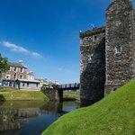 Rothesay Castle under a rare Scottish blue sky.