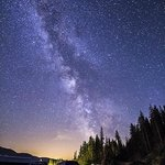 Whistler RV and Campground at night