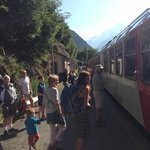 Les Houches train station are a 15 mins walk away.