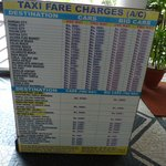 taxi and prices