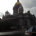 View of St. Isaac's Cathedral from the hotel entrance