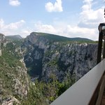 Fantastisk udsigt fra Hotel Canyon du Verdon