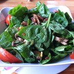 Sesame ginger spinach salad
