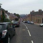 The main road through Jedburgh, from the entrance/driveway