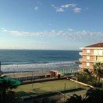 il mare di Andora visto dal terrazzo dell'hotel Lungomare