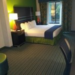 The great, clean and comfortable king suite at the Holiday Inn Express at Clairmont Road and I-8