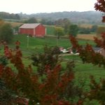 Countryside behind the Inn.  This is the only barn in sight.  Mostly rolling hills.  Gorgeous!