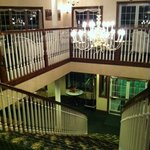 View from the top of the grand staircase (there are elevators as well)