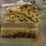 Ekmek, traditional Greek cake.