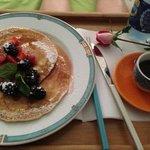 pancake con more del giardino di Villa Marina