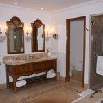 Very large bathroom- view from bathtub