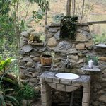 outdoor sink. Listen to birds while you brush your teeth