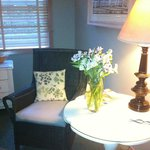 A lovely reading nook in our suite.