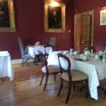 Dining room looking over the walled garden