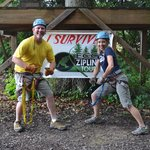 Zipline fun - we conquered!