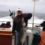 My husband Tom caught the second  salmon of the day