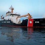 Coast Guard cutter in canal