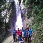 At the Beautiful Waterfall