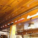 Great Lakes boats line the beams