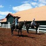 Bachelorette party on horseback!