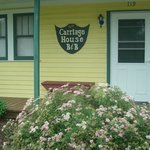 The carriage house  perfect for a family. A private bathroom, and small kitchen. $120.00 a night