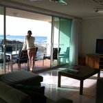 Looking out from lounge room
