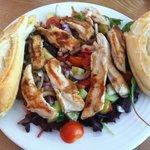 Mediterranean Hot Chicken Salad