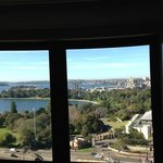 view from room on Botanic Gardens